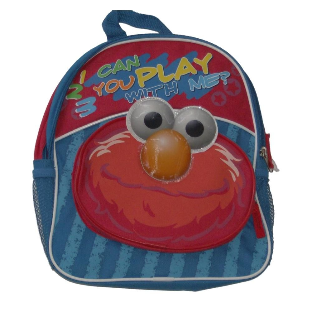 Sesame Street Elmo Mini Backpack Play With Me Preschool Back Pack