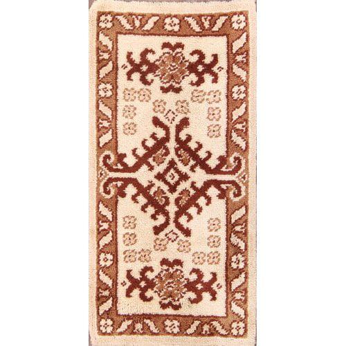 Bloomsbury Market Zepperen Rya Oriental Hand-Knotted Wool Beige/Brown Area Rug