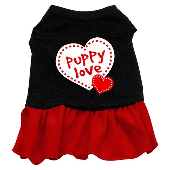 Puppy Love Dresses Black with Red XXL (18)