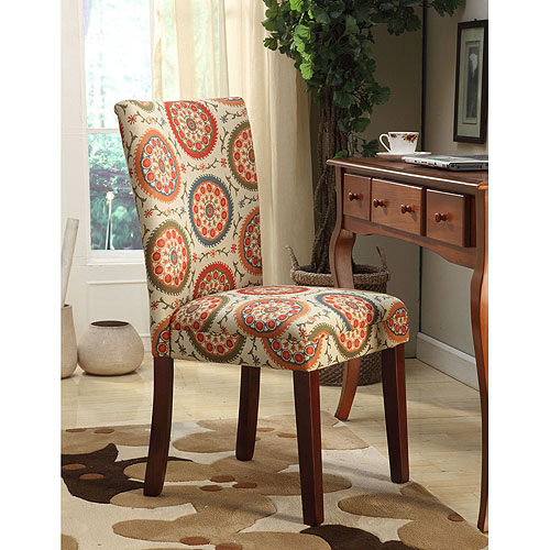 homepop printed parsons chair set of 2 multicolor suzani