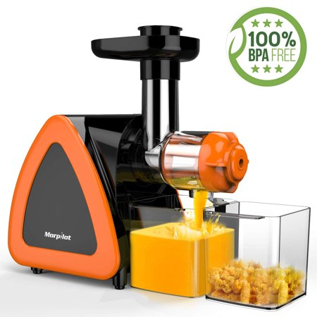 [2019 Newest] Juicer Machine, Morpilot Slow Masticating Juicer, Reverse Function, Cold Press Juicer Machine, Easy to Clean with Brush for High Nutrient Fruit & Vegetable Juice, Quiet Motor