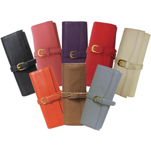 Amerileather  Leather Jewelry Roll with Three Interior Pockets