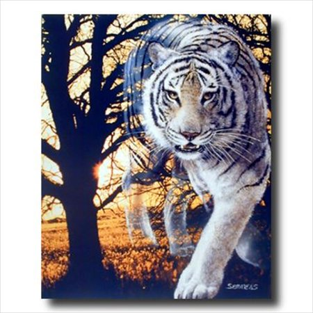 Tiger Woods Picture Top - Wild Spirit White Bengal Tiger Wall Picture Art Print