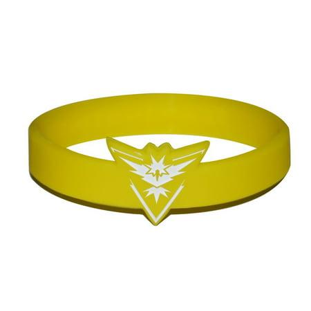 3 Team Instinct Pokemon GO Team Spirit Bracelet  Wristband Bundle (Team Spirit Band)