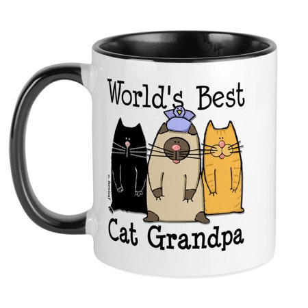 CafePress - World's Best Cat Grandpa Mug - Unique Coffee Mug, Coffee Cup (Best Cafepress Great Grandpas)