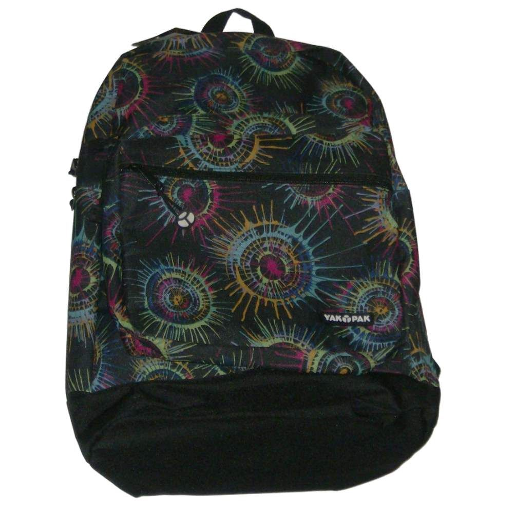 Yak Pack Black Paint Splat Canvas Backpack Sports School Travel Pack