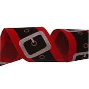 "Santa Belt Christmas Holidays Ribbon 2.5"" Roll DIY Craft Projects 10 Yards"
