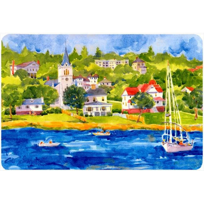 Harbour Scene With Sailboat Mouse Pad, Hot Pad Or Trivet - image 1 of 1