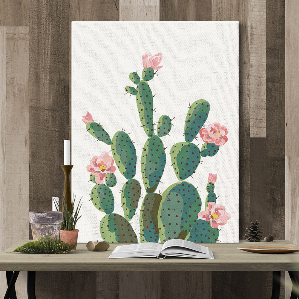 Girl12Queen Green Plant Cactus Decorative Wall Art Painting Sofa Background Home Decor