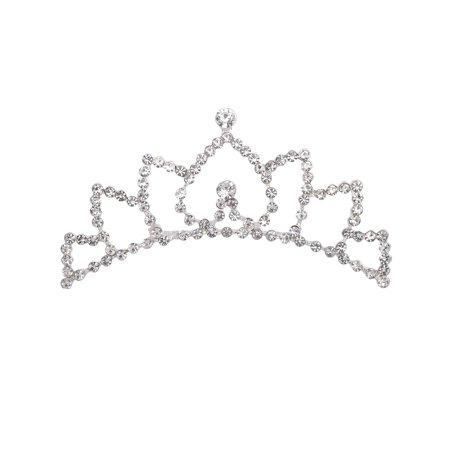 Princess Crown Socks - Kid's Princess Bridal Flower Tiara Crown Comb w/ Crystal Rhinestones