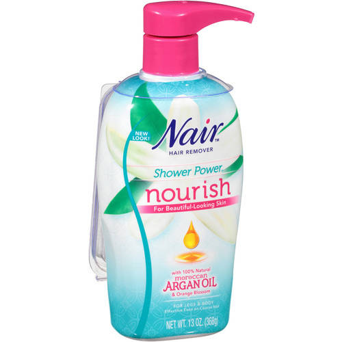 Nair Shower Power Moroccan Argan Oil with Orange Blossom Cream Max Hair Remover 13 Oz Pump