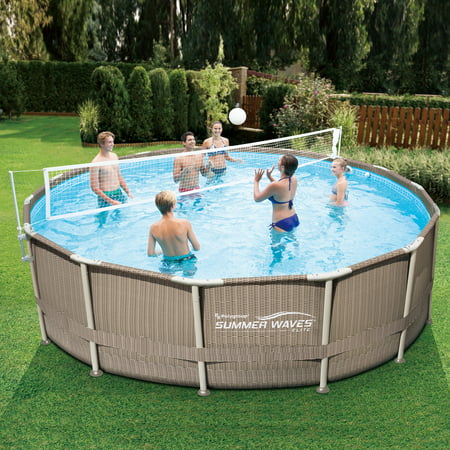Summer Waves Volleyball Net for 10'-20' Metal Frame Above Ground Swimming Pools