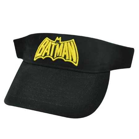 BATMAN DC COMICS BLACK YELLOW YOUTH KIDS VISOR HAT for $<!---->