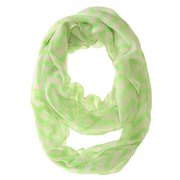 Icon Bijoux Co-Cmf3322-Neongreen Zig Zag Neon Green Infinity Scarf