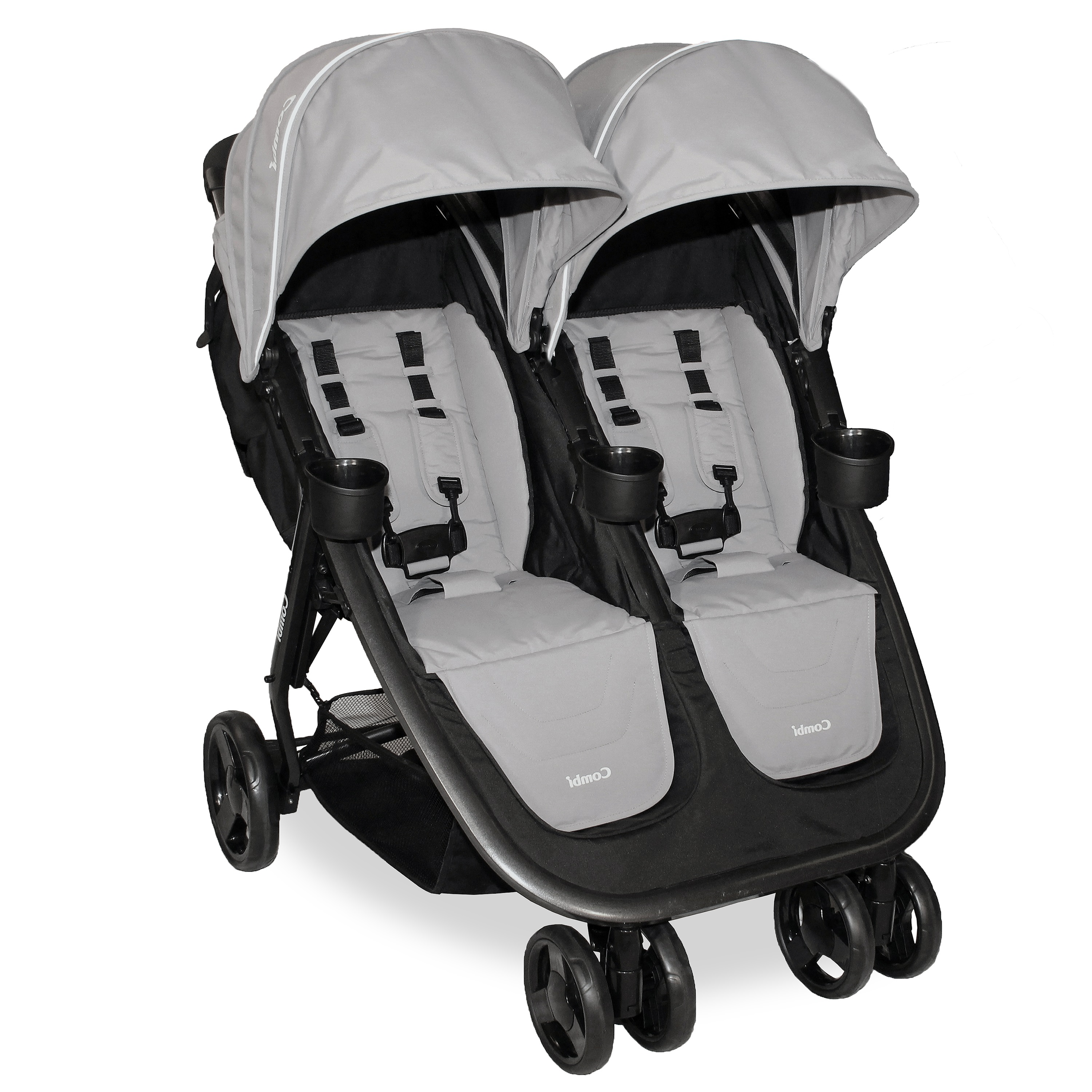 Combi Fold N Go Double Stroller, Black by Combi