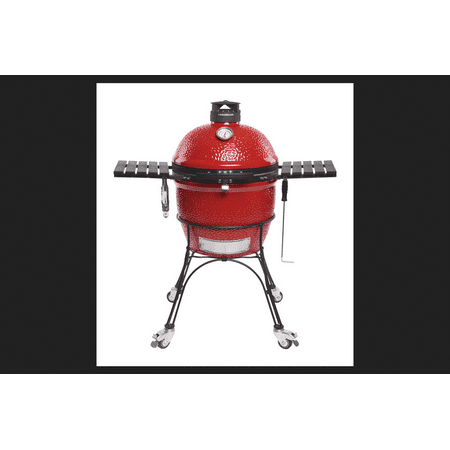 Kamado Joe Kj23rhc 18  Red Classic Joe Ceramic Charcoal Grill W  Cast Iron Cart