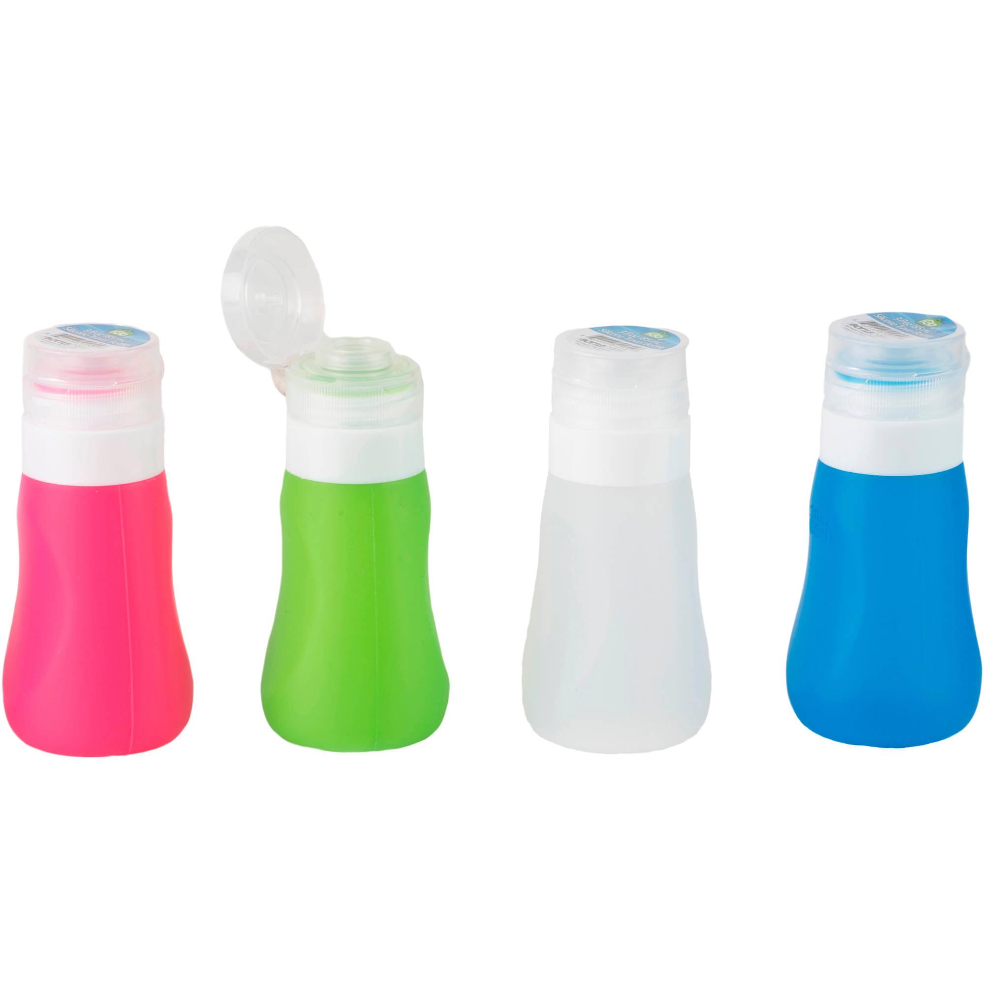 Igo Silicone 3 Oz Travel Bottles With Reusable Clear Bag