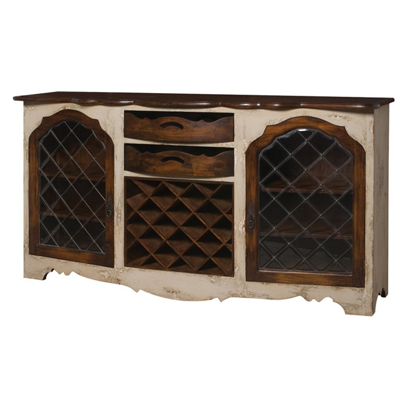 Guild Masters Credenza With Wine Storage by Guildmaster