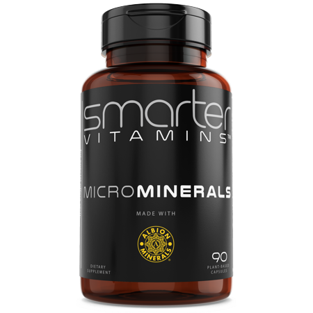 SmarterVitamins MicroMinerals 6 Essential MULTI MINERALS COMPLEX TRACE MINERAL BLEND Made with Zinc, Selenium, Boron, Molybdenum, Manganese, Chromium in Glycinate Chelate form from TRAACS® Albion®