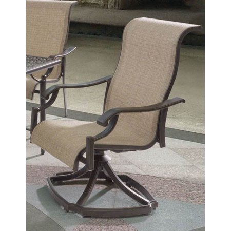 single sling swivel rocker arm chair set of 2