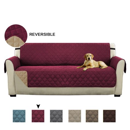 Guest Loveseat (Turquoize Reversible Stay-in-Place Plush Furniture Oversize Loveseat Protector for Dogs/Cats with Straps, Multiple Colors and Sizes )