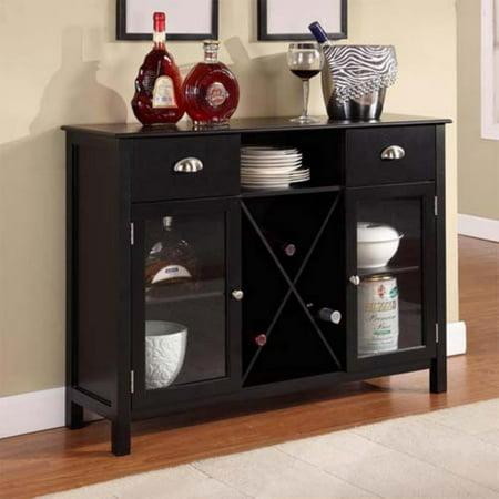 Buffet Server Wine Cabinet, Black