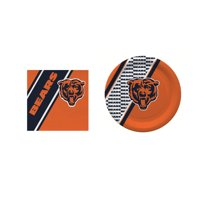 Chicago Bears 20 Pc Disposable Paper Plates And 20 Pc Disposable Napkins