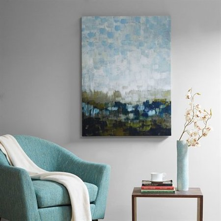 Madison Park Signature Abstract Land Gel Coated Canvas Multi 29x39x15