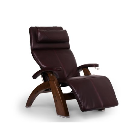 Human Touch Pc 420 Classic Manual Plus Perfect Chair Series 2 Power Recline Walnut Wood Base Zero Gravity Recliner   Burgundy Premium Leather