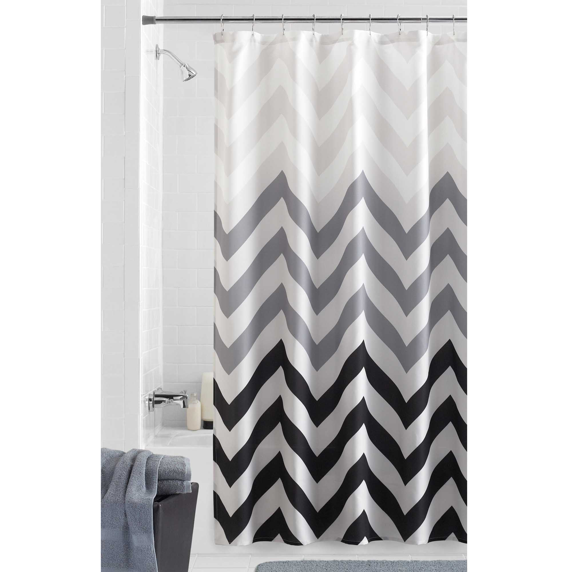 Mainstays Flux Fabric Shower Curtain