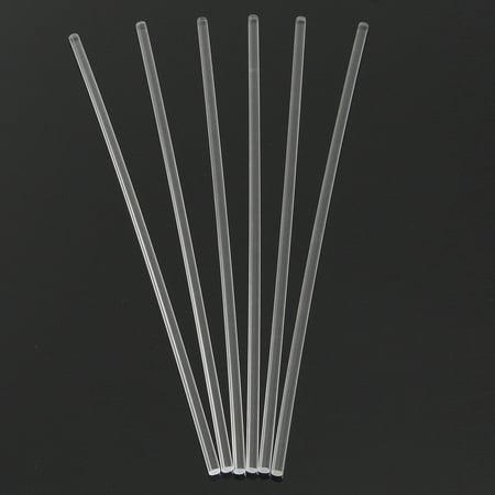 6 Pcs Transparent Acrylic Round Rod 1/4'' Diameter 12'' Length Clear Solid Bar  - image 6 de 6