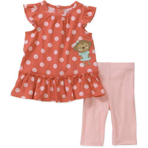 Child of Mine by Carters Newborn Girl Tunic and Pants Set