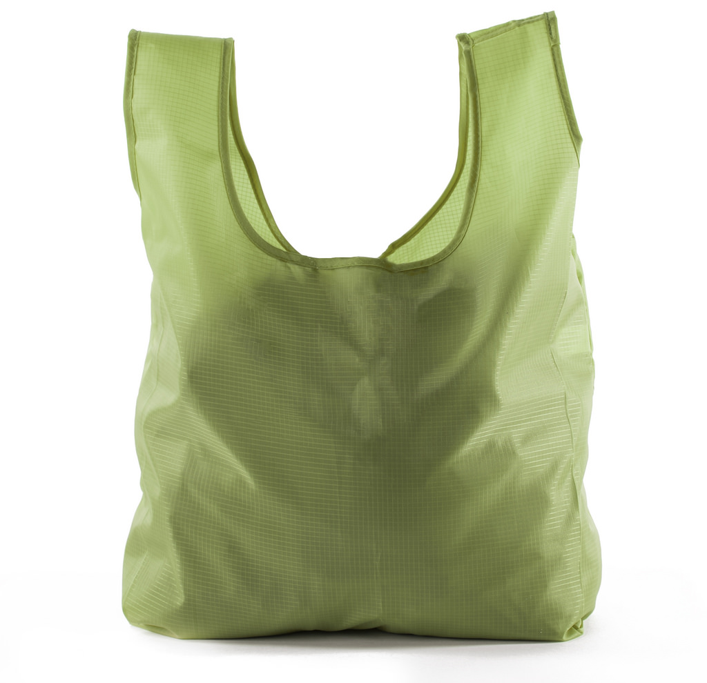 Reusable Grocery Bags | Foldable w/ Integrated String Pouch | Ripstop Nylon Tote - 3PK Moss CA2650