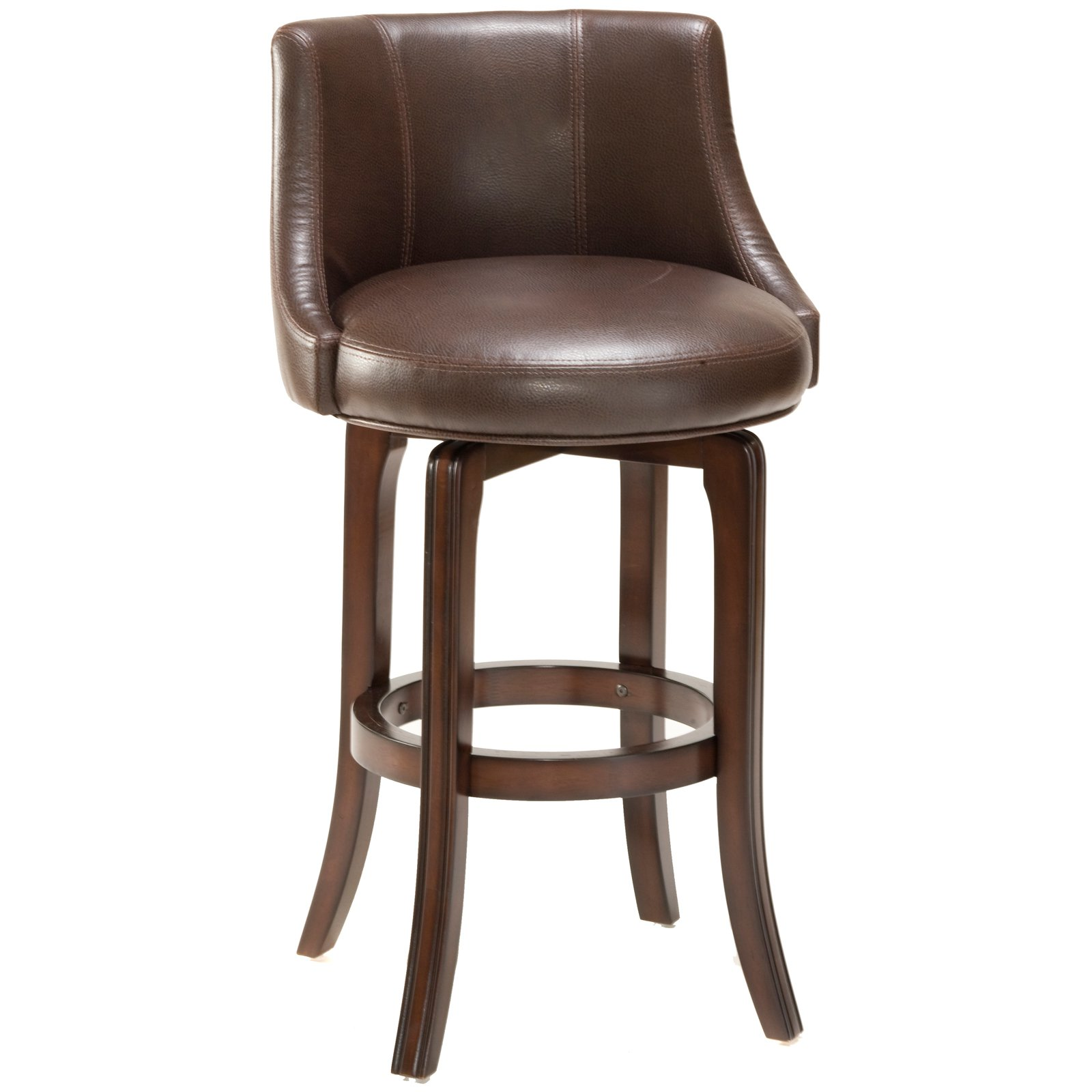 Hillsdale Napa Valley 30 in. Swivel Bar Stool Brown Leather Seat by Hillsdale Furniture