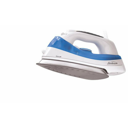 Sunbeam Simple Press Iron, White & Blue - 1200 W - Blue, White (gcsbbv-212-00a) ()