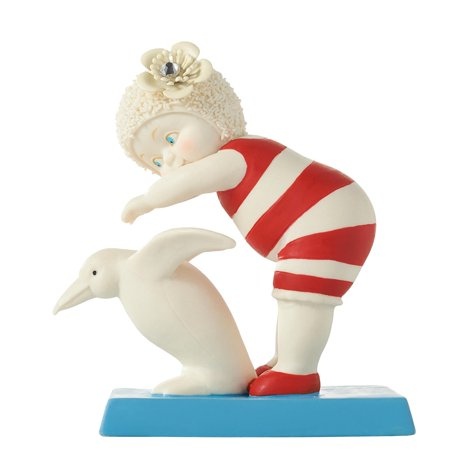 Snowbabies Diving in Deep Baby with Penguin Porcelain Figurine 4055965 New, Department 56 By Department-56