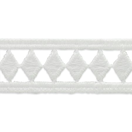 Expo Int'l 5 yards of Single Row Diamond Border Lace Trim