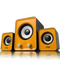 Frisby FS-2700BT 2.1 CH USB Powered Desktop Subwoofer Speaker Media System (3-Piece)