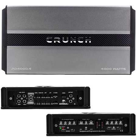 Crunch PD 4000.4 Pro Power POWER DRIVE Class AB 4-Channel Pro Power Bridgeable Amp, 4,000 Watts Max (Pro Pwr Amp)