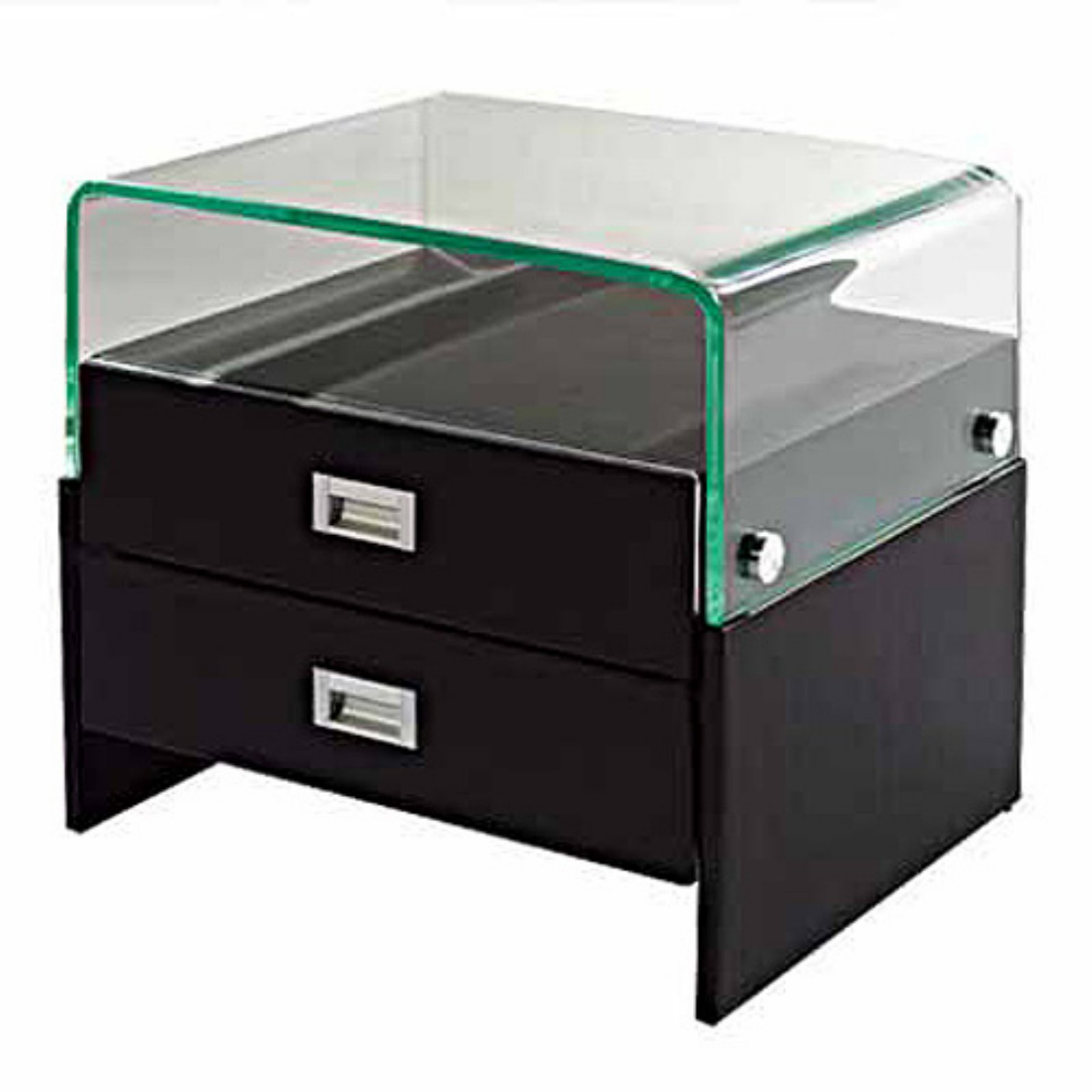 Creative Images International Acrylic Top 2 Drawer Nightstand