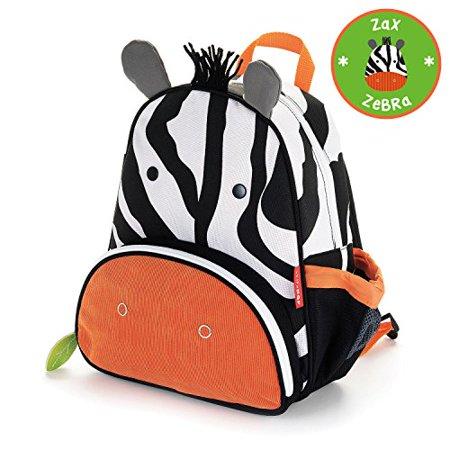 d2b1b23e883b Skip Hop Zoo Toddler Kids Insulated Backpack Zax Zebra, 12-inches,  Multicolored