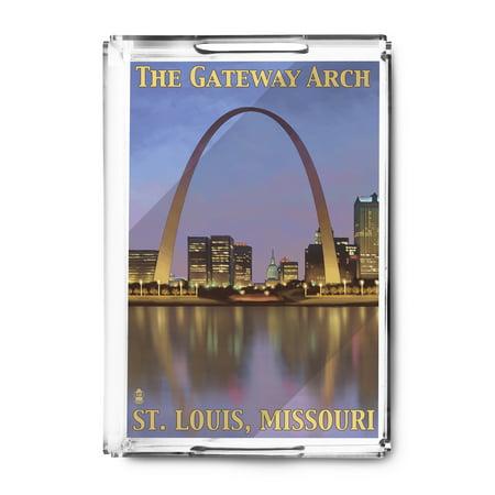 St. Louis, Missouri - Gateway Arch - Lantern Press Artwork (Acrylic Serving (Gateway Arch St Louis)