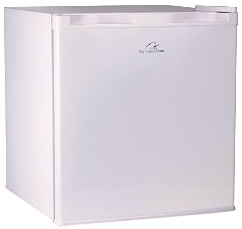 Commercial Cool CCR16W Compact Single Door Refrigerator and Freezer, 1.6 Cu. Ft. Mini Fridge, White
