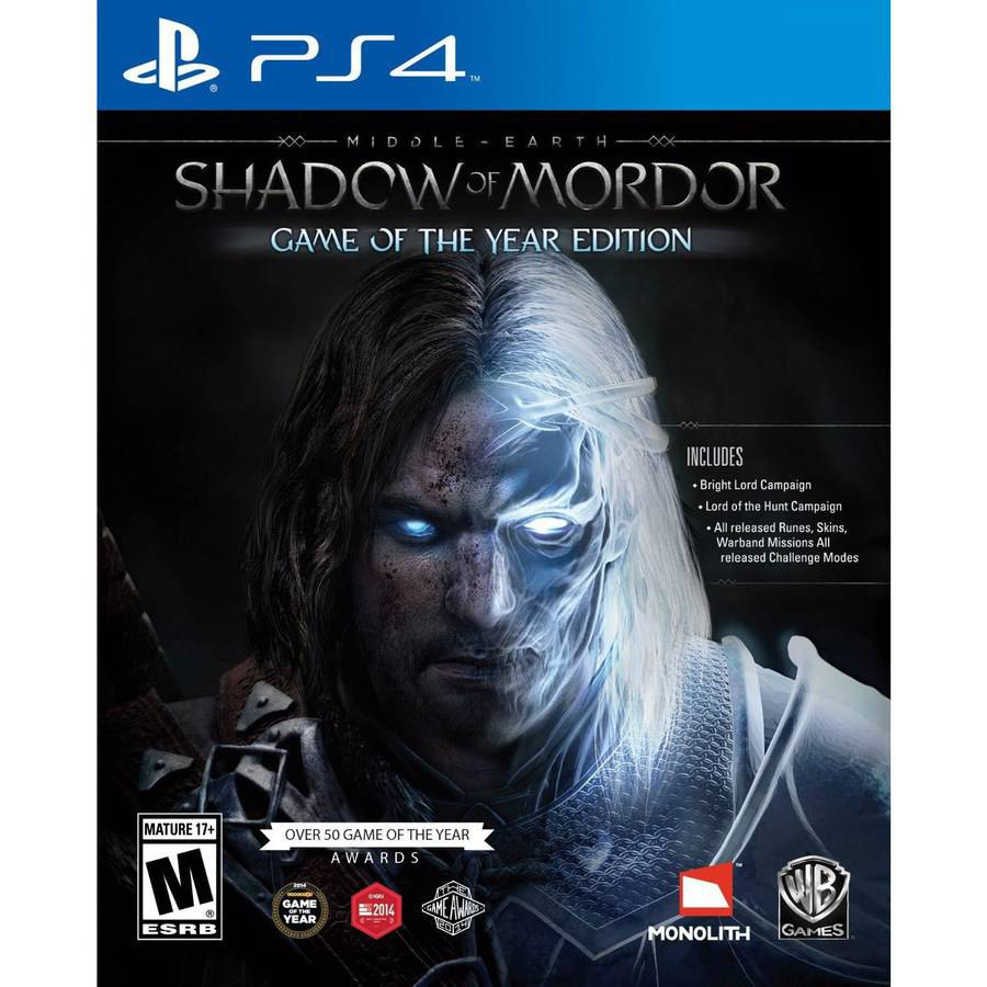 Middle Earth: Shadow of Mordor GOTY, WHV Games, PlayStation 4, 883929477265