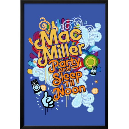 Mac Miller - Party and Sleep til Noon Framed Poster Wall Art