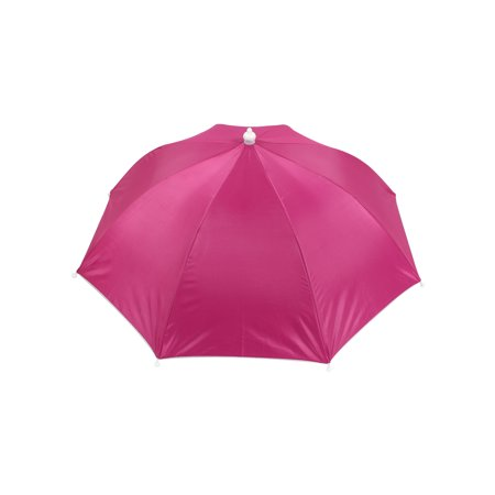 Fishing Camping Outdoor Fuchsia Polyester Umbrella Hat Cap Headwear (Fishing Umbrella Hat)