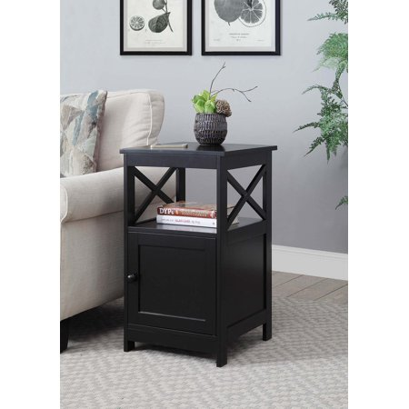 Convenience Concepts Oxford End Table with Cabinet (Cabinet End Panels)