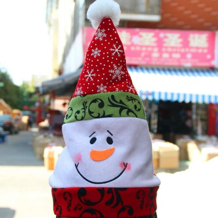 DZT1968 Unisex Adult Xmas Red Cap Santa Novelty Hat for Christmas Party - Adult Christmas Party Themes