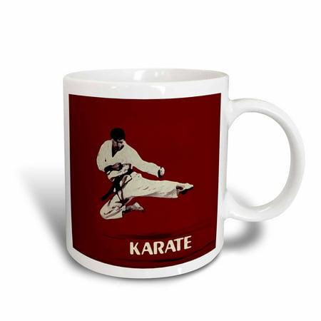 3dRose Karate, Ceramic Mug, 11-ounce