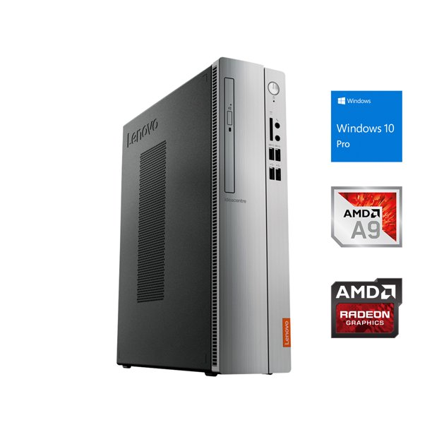 Lenovo IdeaCentre 310S Desktop SFF, AMD Dual-Core A9-9425 Upto 3.7GHz, 16GB RAM, 512GB SSD, DVD-RW, VGA, HDMI, Card Reader, Wi-Fi, Bluetooth, Windows 10 Pro
